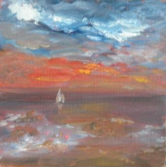 Soleil breton à la fin du jour