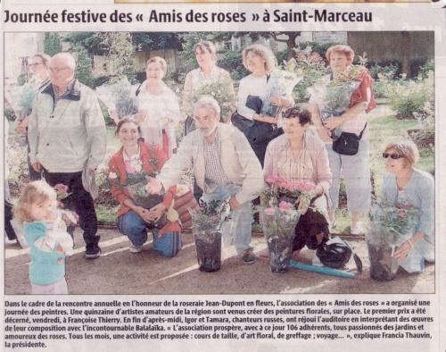 Amis des Roses St Marceau - deuxième prix