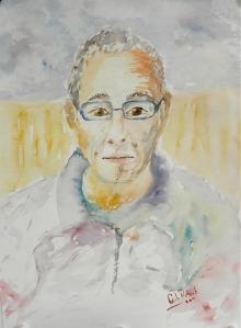 Portrait rapide à l'aquarelle
