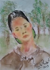 Portrait rapide au Pastel Sec