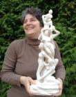Sculpture de Cécile Robert - Sermage 8 femmes