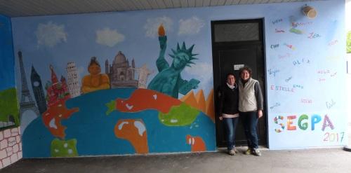 Fresque réalisée en SEGPA, collège de Saint Jean de Braye, France